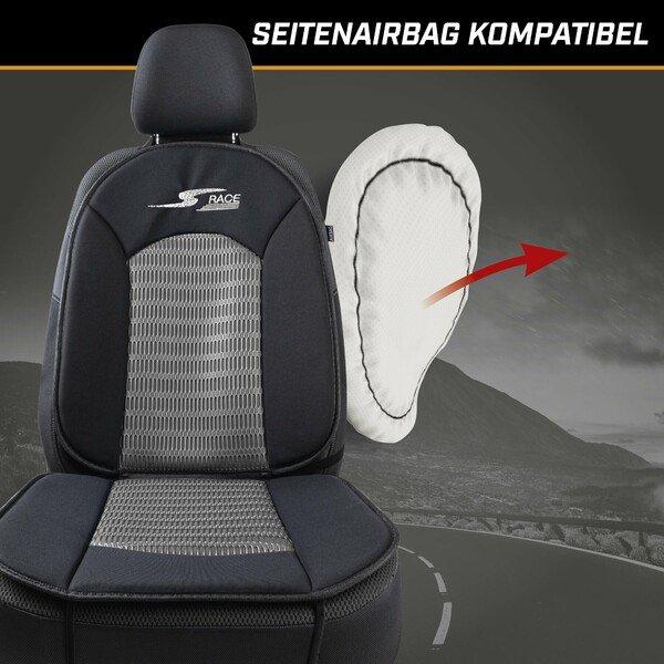 PKW Sitzauflage S-Race anthrazit