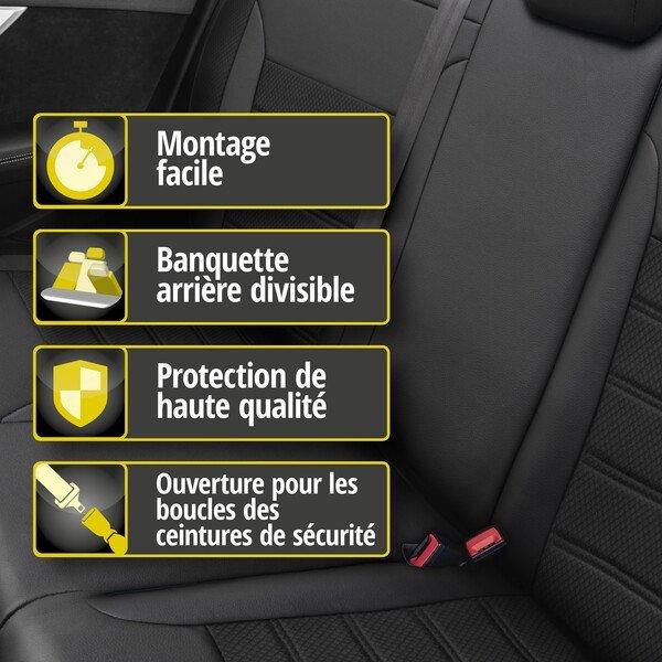 Housse de siège Aversa pour Ford Focus III Turnier année 07/2010-aujourd'hui, 1 housse de siège arrière pour les sièges normaux Titanium