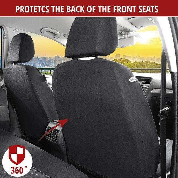 Car Seat cover DotSpot grey black Premium for two front seats