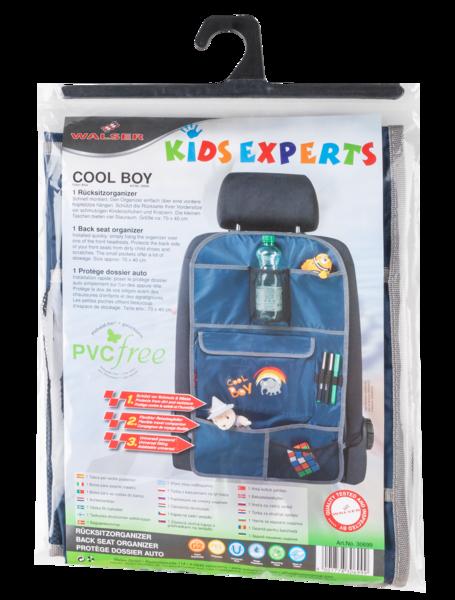 Siège auto pour enfants organisateur sac à dos Cool Boy bleu