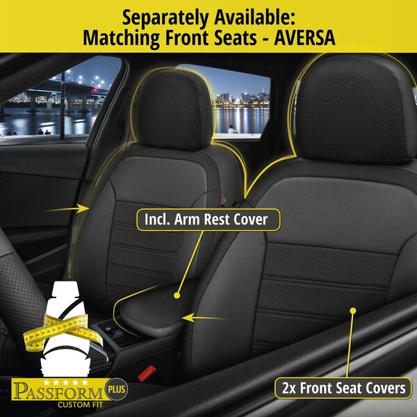 Seat cover 'Aversa' for Fiat 500L year of construction 2013 until today - 1 rear Seat cover for normal seats