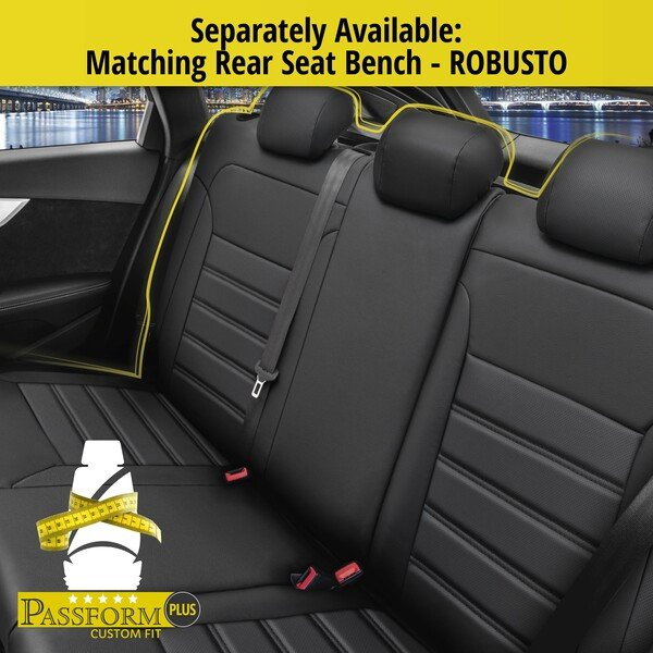 Seat cover Robusto for Renault Captur I (J5, H5) year 06/2013-Today, 2 seat covers for normal seats