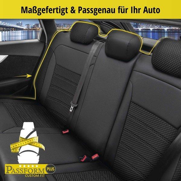 Sitzbezug 'Torino' für Audi A3 Baujahr 2012 bis heute - 1 Rücksitzbankbezug für Sportsitze