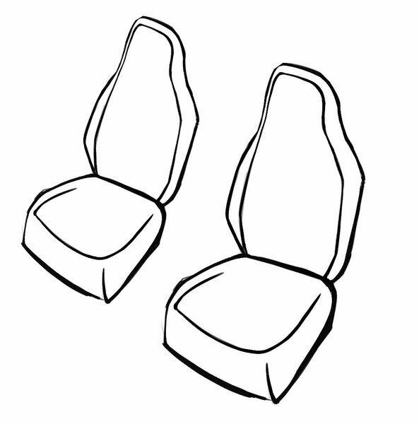 Coprisedili Robusto per VW Up 08/2011 fino - Oggi, 2 Coprisedili singoli per sedili con schienale alto