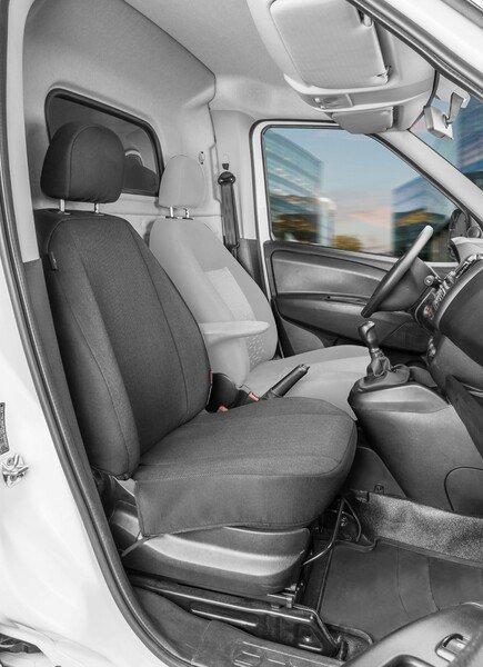 Autoschonbezug Transporter aus Stoff für Opel Combo D, Einzelsitz Beifahrer