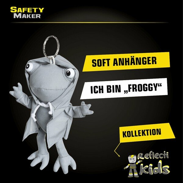 Safety Maker Soft Anhänger Froggy silber reflektierend