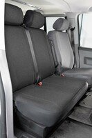 Car Seat covers for VW T4 double bench front in fabric for year of construction 10/1998 - 03/2003