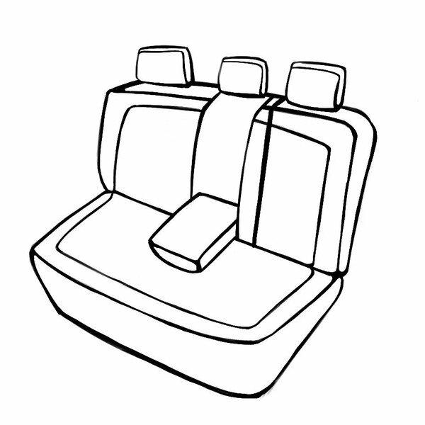 Coprisedili 'Torino' per il Seat Leon 2013 fino ad Oggi - 1 Coprisedili posteriore per sedili sportivi