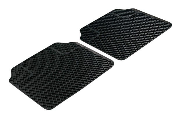 Rubber mats for Robust Back mats black