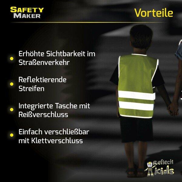Sicherheitsweste 7-14 Jahre gelb