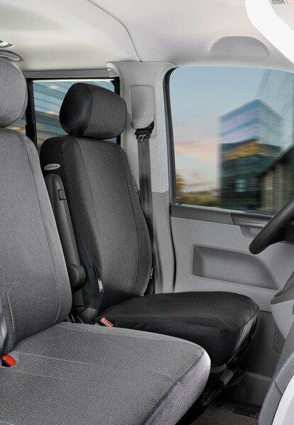 Housse de siège Transporter en tissu pour VW T6, siège aTransportert simple
