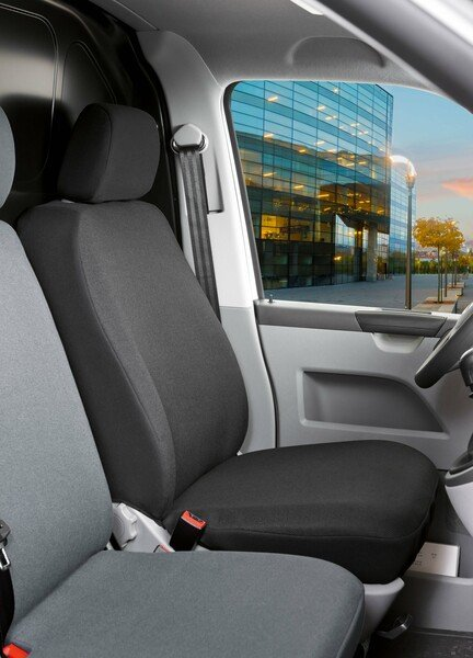 Universal Transportersitzbezug Toronto für Fahrer- oder Beifahrersitz aus Stoff anthrazit