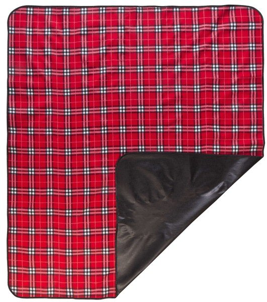 Couverture de pique-nique Nessie rouge à carreaux 150x130cm