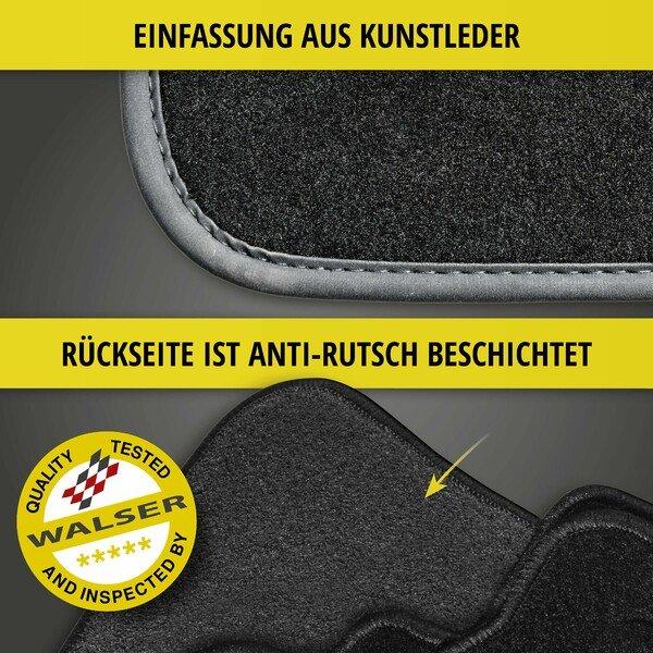 Premium Fußmatten für Audi A4 Cabrio Baujahr 05/2002 - 01/2006
