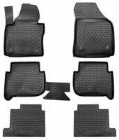 XTR rubber mats for VW Touran I, II, 7 seats, year 2003 - 2015