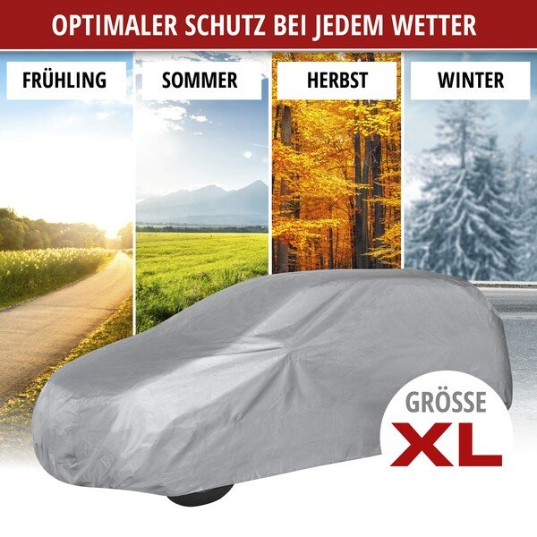 Autoplane Abdeckplane All Weather Light Vollgarage Größe XL hellgrau