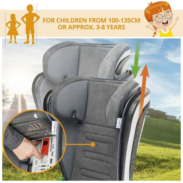 Child seat Noemi anthracite/orange
