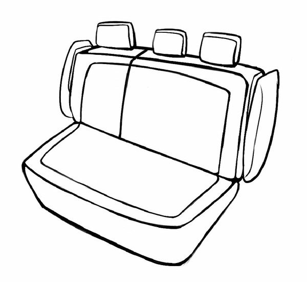 Seat cover Bari for BMW 1 (F20) 07/2011-06/2019, 1 rear seat cover for sport seats