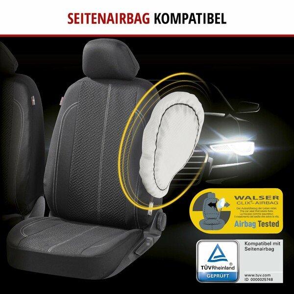 ZIPP IT Autositzbezüge Tratto für zwei Vordersitze mit Reißverschluss-System schwarz