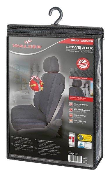Car Seat cover Lowback with zipper