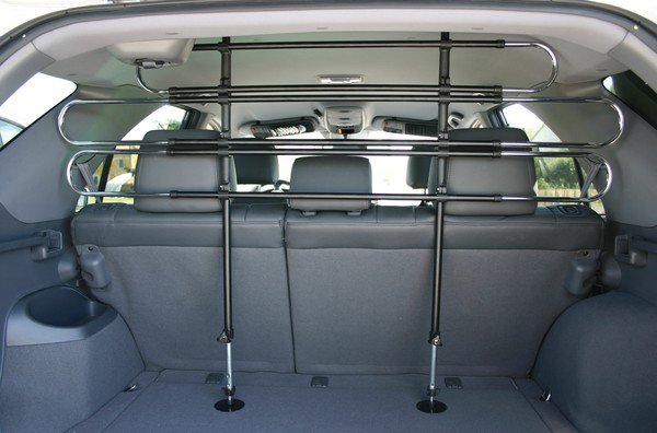 dog guard for car height: 85-128 cm black/silver