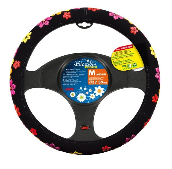 steering wheel cover with flowers size M 37-39 cm