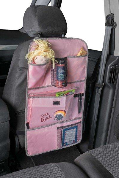 Autositz Kinder Organizer Rücksitztasche Cool Girl rosa