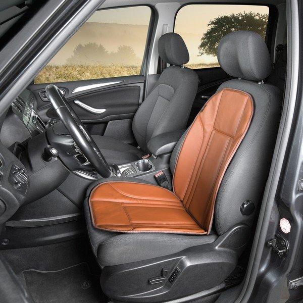 Housses de sièges en simili cuir brun Ravenna