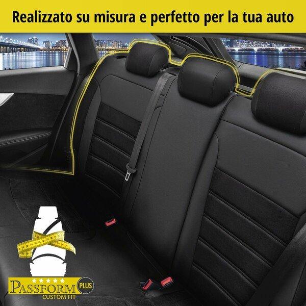Coprisedili 'Bari' per Audi A3 anno di costruzione 2012 fino ad oggi - 1 Coprisedili posteriore per sedili sportivi