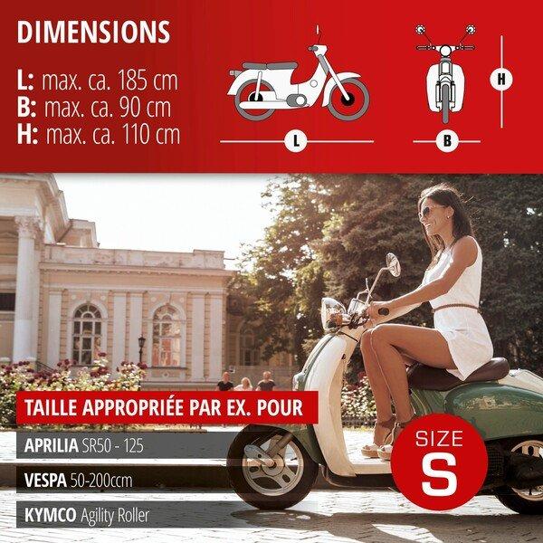 Garage à motos Scooter taille S PVC - 185 x 90 x 110 cm gris