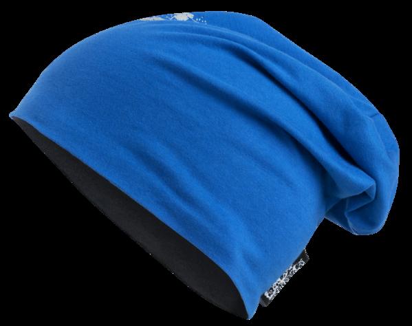 berretto reversibile, berretto, berretto sportivo riflettente blu-argento