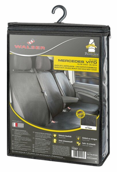Car Seat covers for Mercedes-Benz Vito and Viano (W639) Single seat with armrest and double bench imitation leather soft