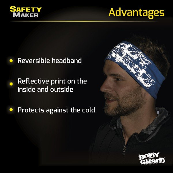 reversible headband blue-silver