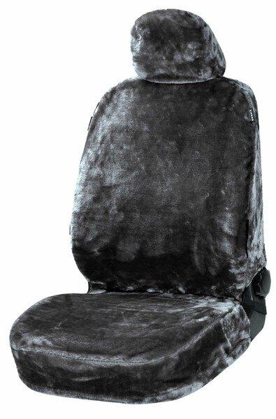 Autositzbezug Teddy aus Kunstfell vegan anthrazit