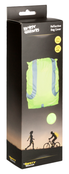 Reflective backpack cover water resistant yellow 45L