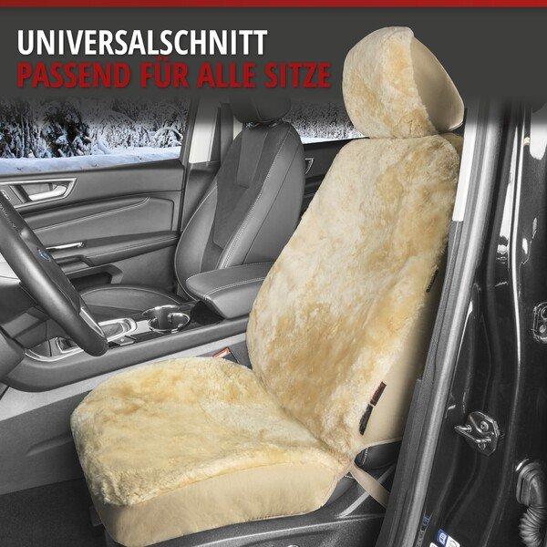 Autositzbezug Iva aus Lammfell beige mit ZIPP IT System
