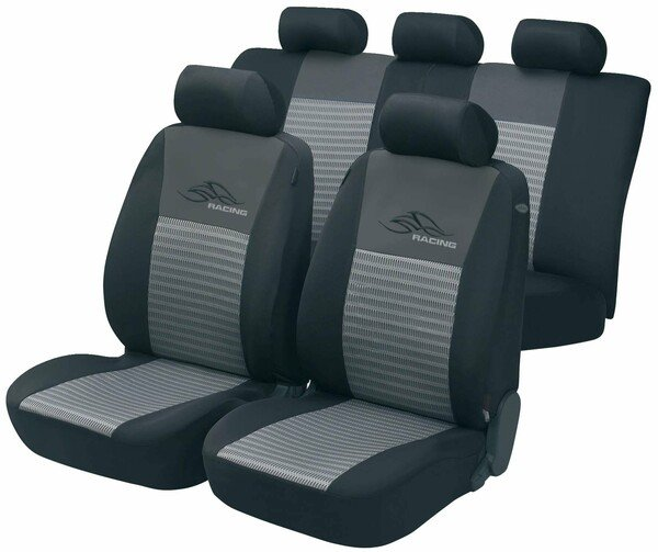 Car Seat covers Racing silver