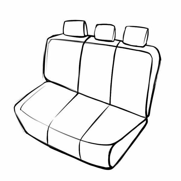 Passform Sitzbezug Aversa für Skoda Roomster (5J7) 03/2006-05/2015, 1 Rücksitzbankbezug für Normalsitze