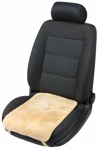 Autositz Lammfell Auflage Molly beige 12-14 mm Fellhöhe