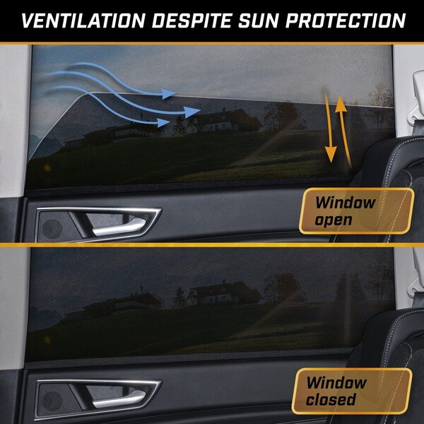 Sun protection Window Sock, 2 pieces, black