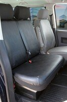 Autoschonbezug Transporter aus Kunstleder für VW T5, Doppelbank vorne