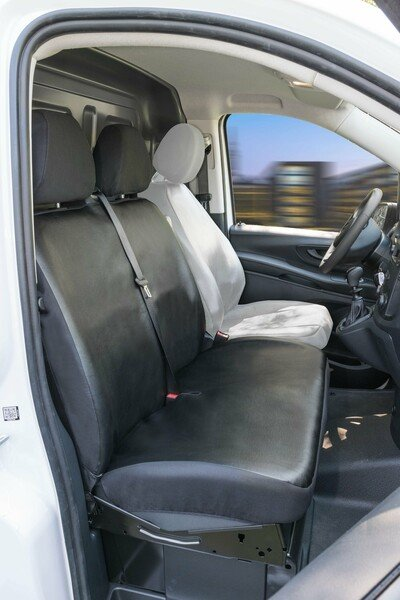 Autoschonbezug Transporter aus Kunstleder für Mercedes-Benz Vito 447, Doppelbank vorne
