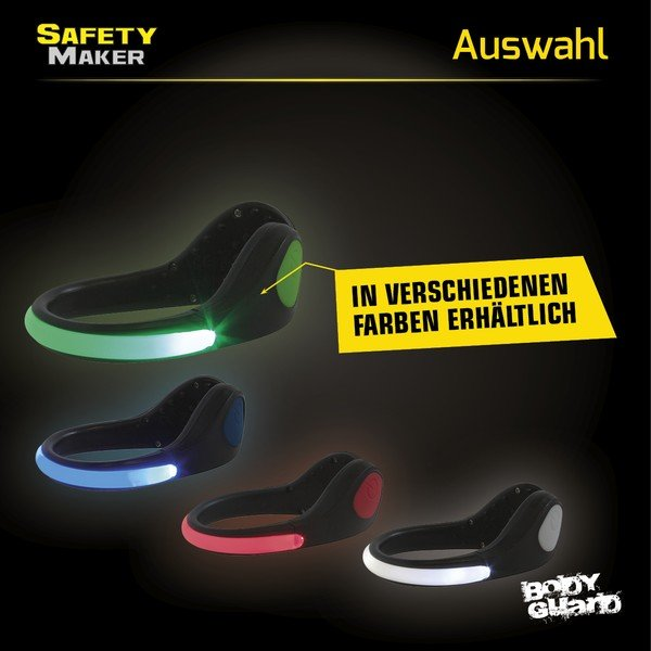 LED Schuh Clip grün