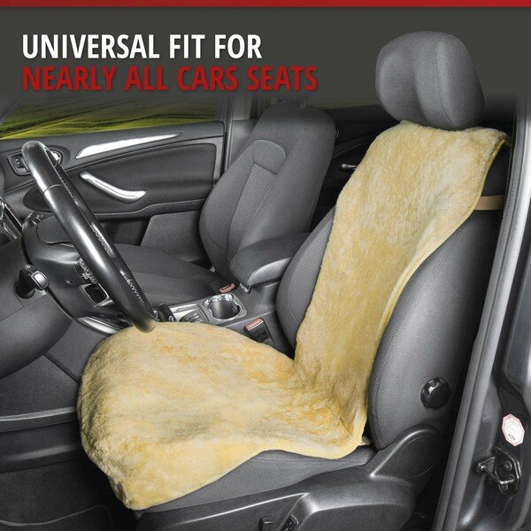 Car Seat cover made of lambskin Vogue beige 16-18mm fur height