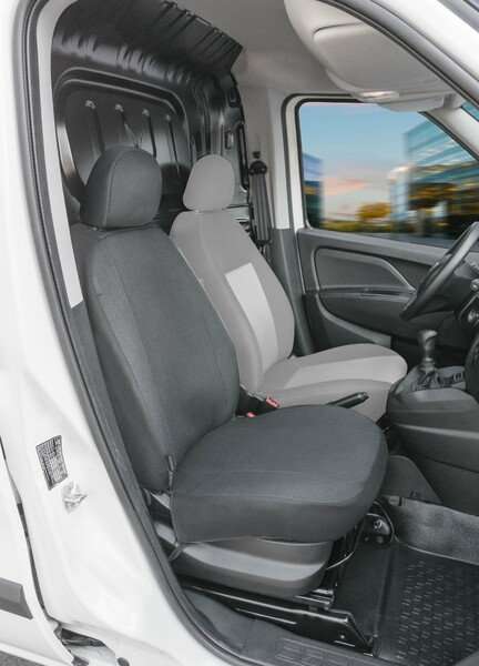 Car Seat cover Transporter made of fabric for Fiat Doblo II, single seat passenger