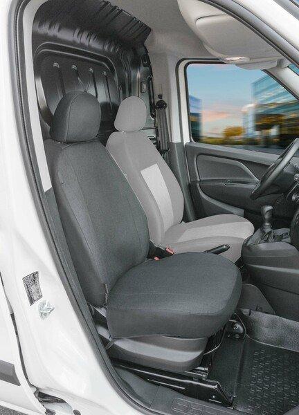 Housse de siège Transporter en tissu pour Fiat Doblo II, siège passager simple