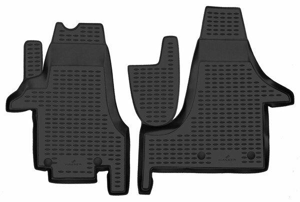 Tapis en caoutchouc XTR pour VW T5 bus/plateforme/chassis 04/2003-08/2015, VW T5 fourgon 04/2003-Auj.