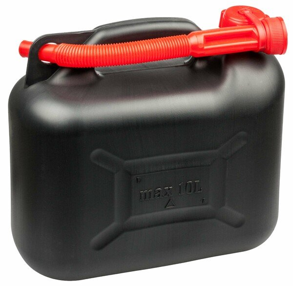 Petrol canister 10 litres - UN-approved with safety closure