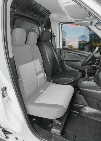 Housse de siège Transporter en simili cuir pour Fiat Doblo 2, siège conducteur unique