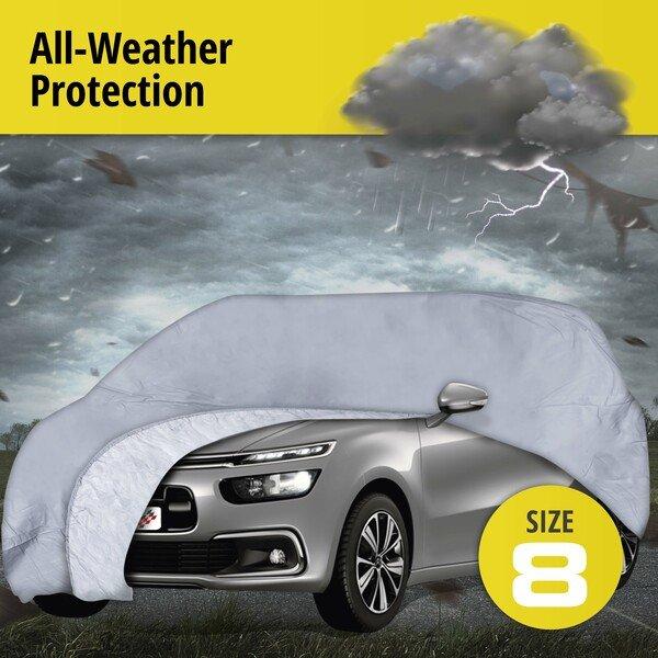 Car tarpaulin All Weather Premium size 8 grey